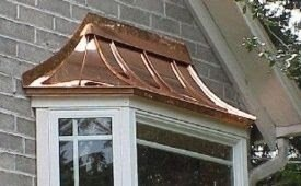 Copper roofing as an accent.