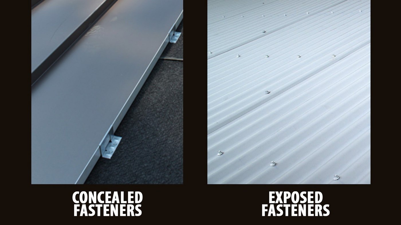 Concealed Fasteners vs. Exposed Fasteners