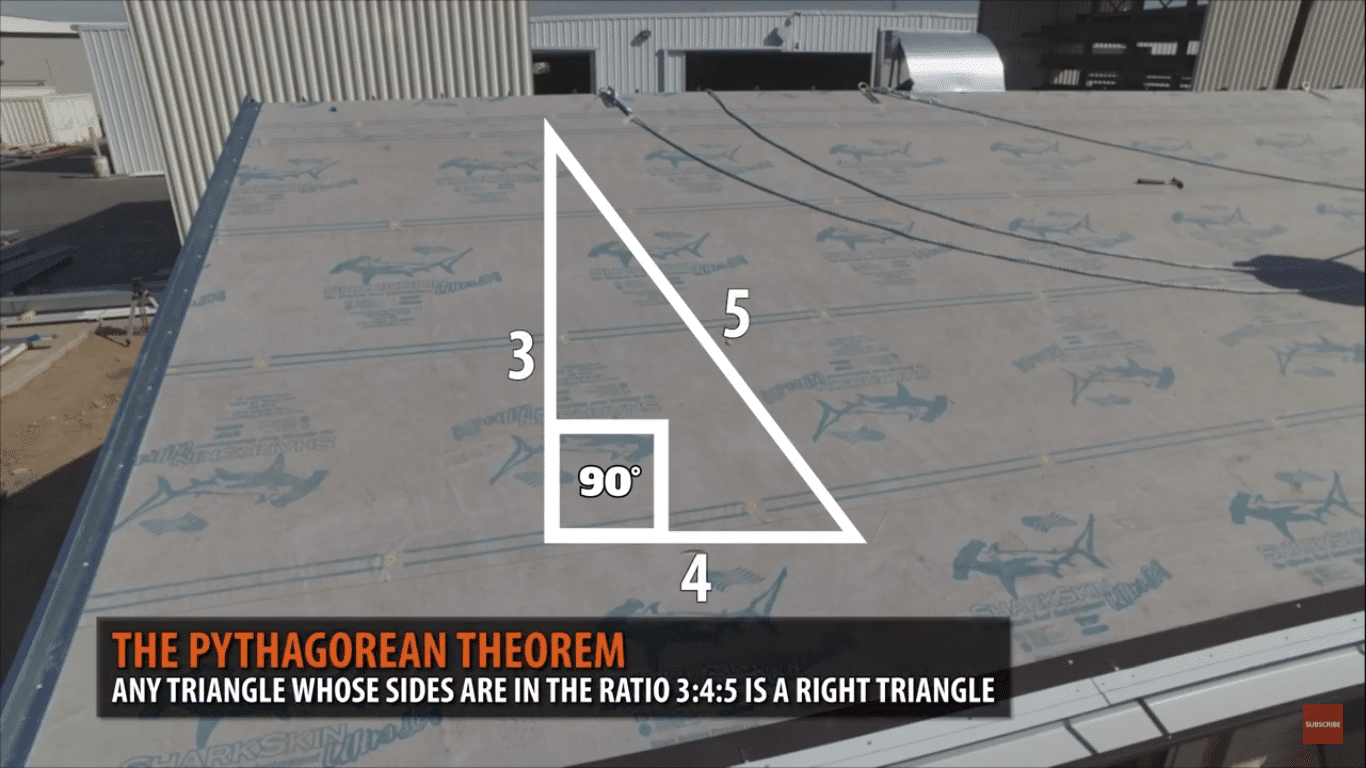 How to Square A Metal Roof - The 3, 4, 5 Triangle Method