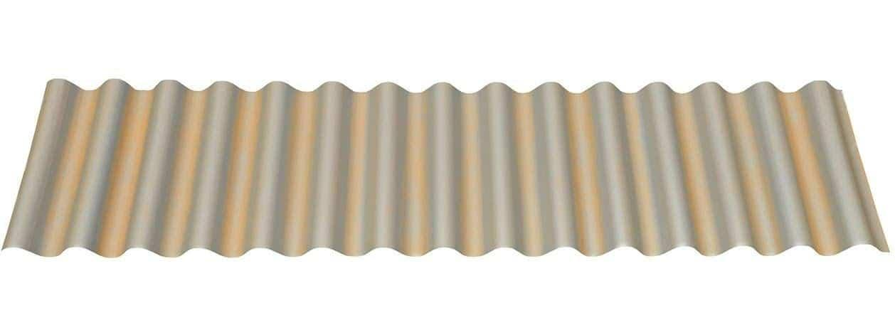 Pre-Painted Corrugated Metal Roofing In Galvanized Streaked Rust®