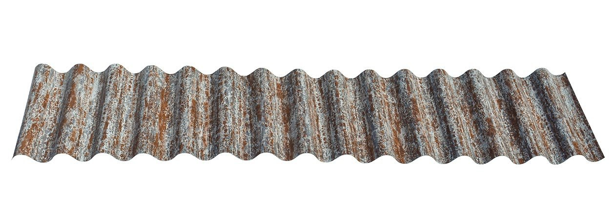 Pre-Painted Corrugated Roofing in Reclaimed Metal Rust®