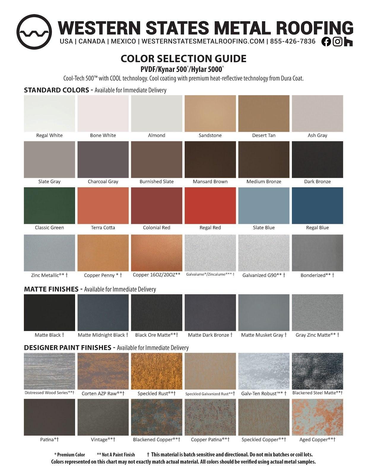 Kynar® Color Card