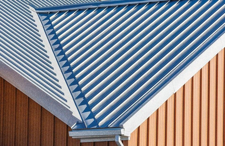 Standing Seam Metal Roof in Zinc Patina